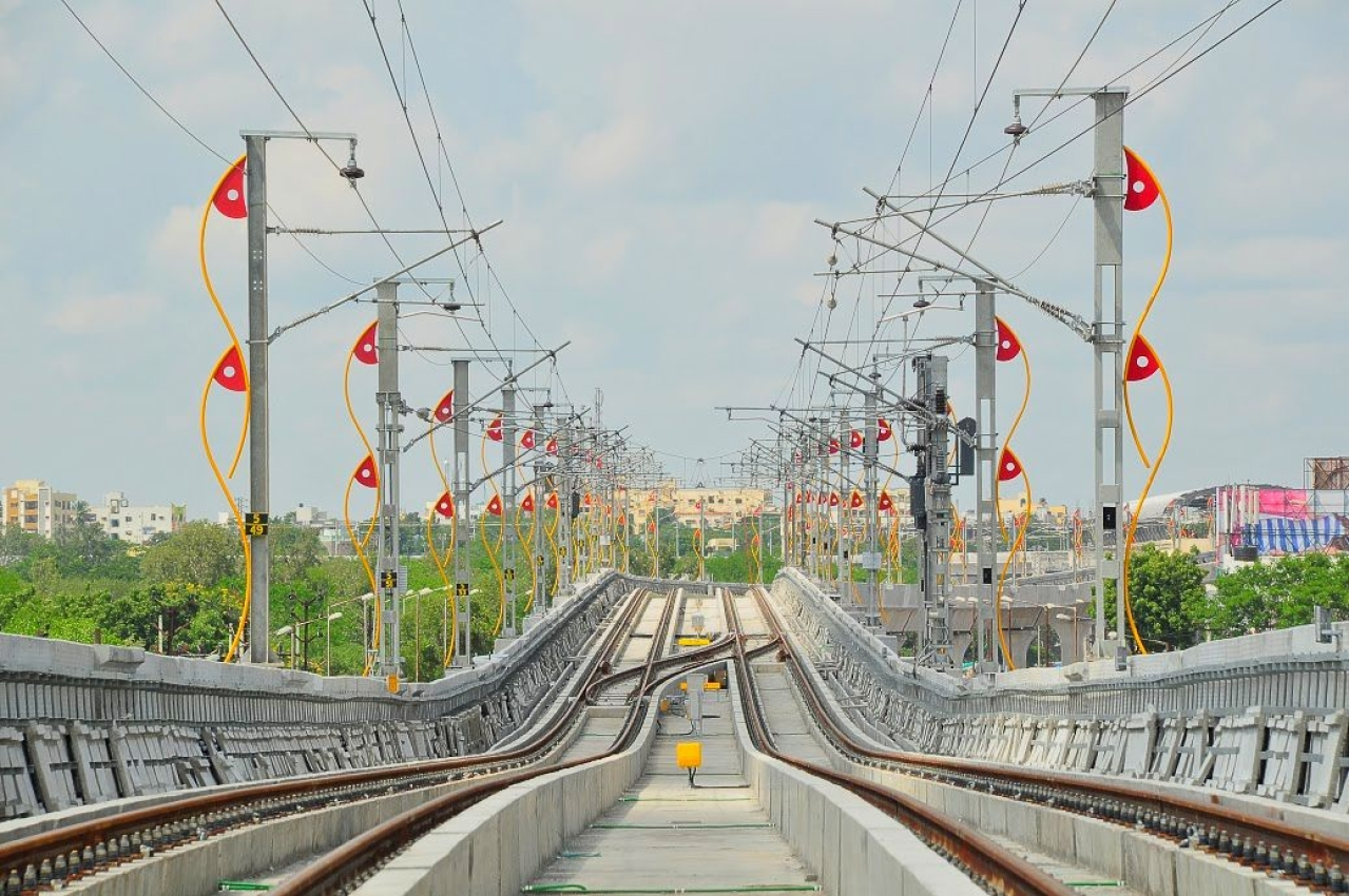 A Hyderabad Metro Corridor (Hyderabad Metro Press Kit)