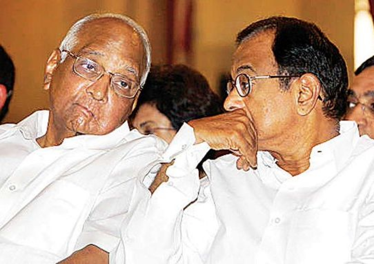 NCP leader Sharad Pawar and Congress leader P Chidambaram (Source: Twitter)