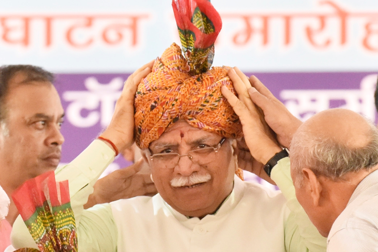Manohar Lal Khattar, Chief Minister of Haryana.