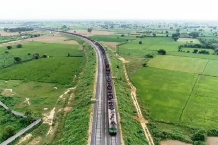 Watch: Drone Captures Indian Railways' First Heavy Haul Trial Run On Eastern Dedicated Freight Corridor