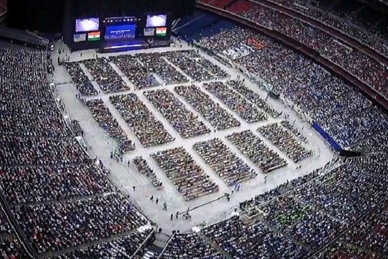 Birds eye view of Houston's NRG stadium (Pic via Twitter)