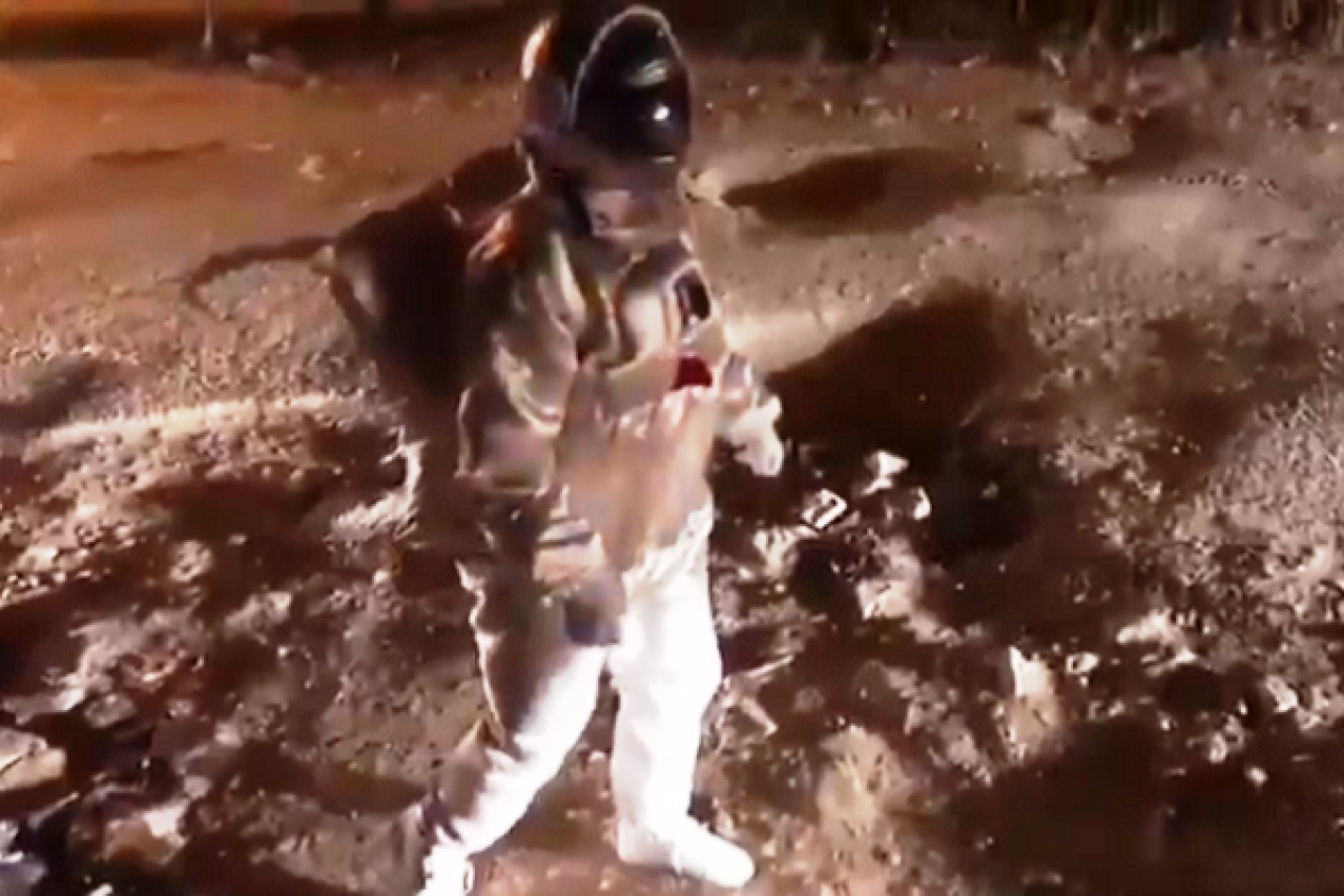 Watch: Artist Walks On Bengaluru Road In Spacesuit To Protest Against Moon Crater Like Potholes