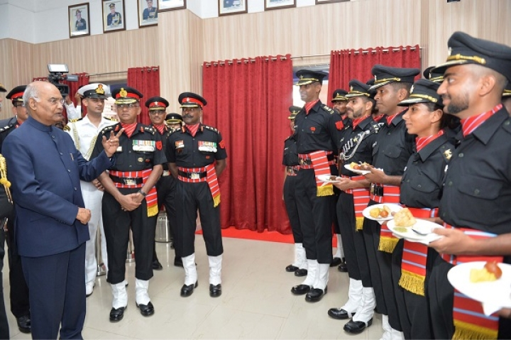 President Kovind Honours Corps Of Army Air Defence With President's Colours Award