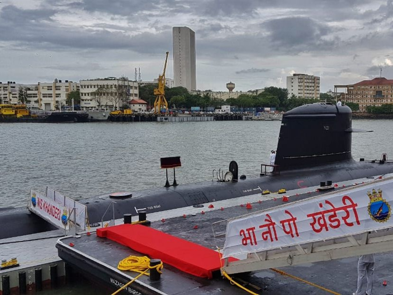 Scorpene Class Attack Submarine INS Khanderi, Alpha Shivalik Class Frigate Nilgiri Commissioned Into The Indian Navy