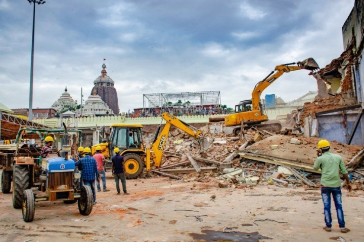 Demolition Of Key Religious, Heritage Structures Outside Puri's Jagannath Temple Slammed By Indic Collective