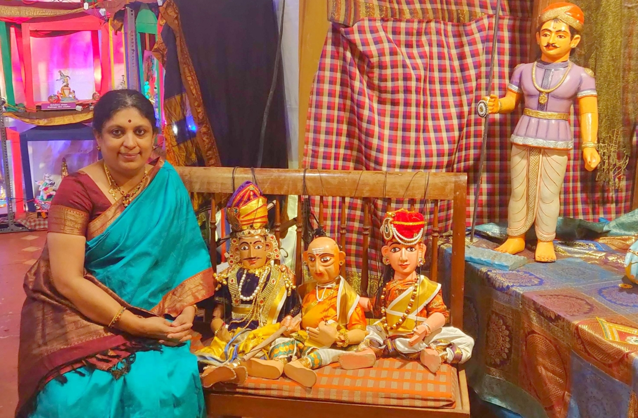 Anupama Hosakere and her art collections.