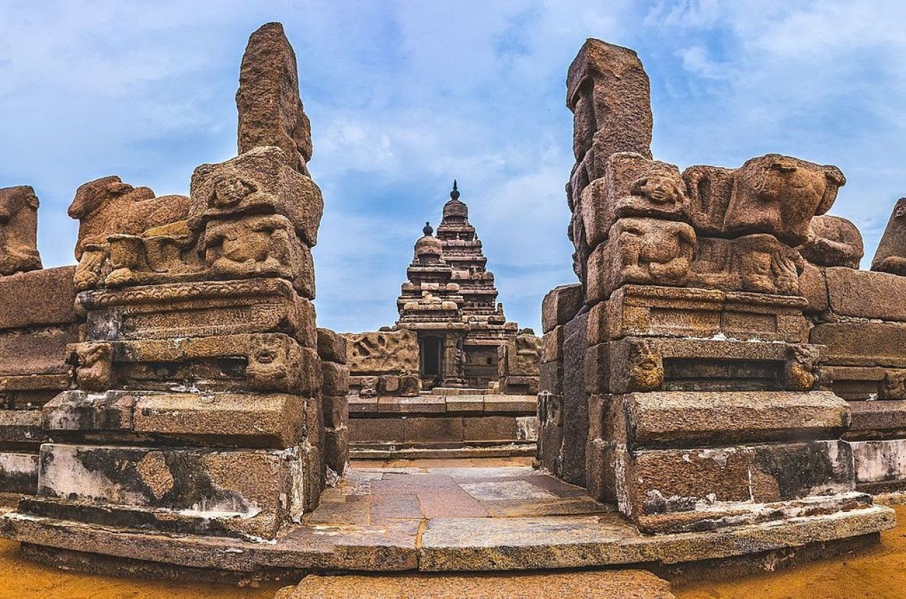 "A temple in Mamallapuram/Mahabalipuram, the town that will host the Modi-Xi summit. (<a href=""https://commons.wikimedia.org/w/index.php?title=User:Iamarunkumor&amp;action=edit&amp;redlink=1"">Arunkumar J S</a>/Wikipedia)"