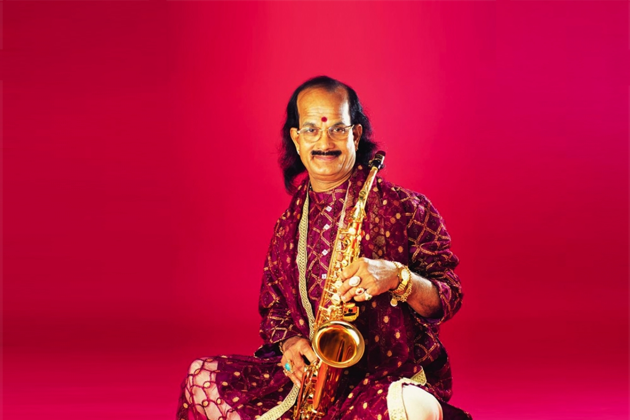 The saxophone legend Kadri Gopalnath.