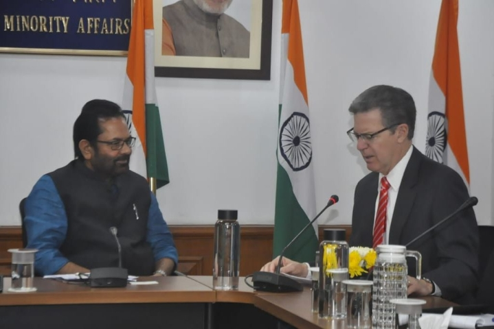 'India Is Heaven For Minorities': Union Minister Mukhtar Abbas Naqvi Tells US Envoy For International Religious Freedom