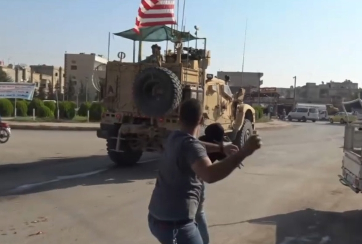 US Troops Withdrawing From Embattled Turkey-Syria Border Pelted With Rotten Fruits, Eggs By Kurdish Population