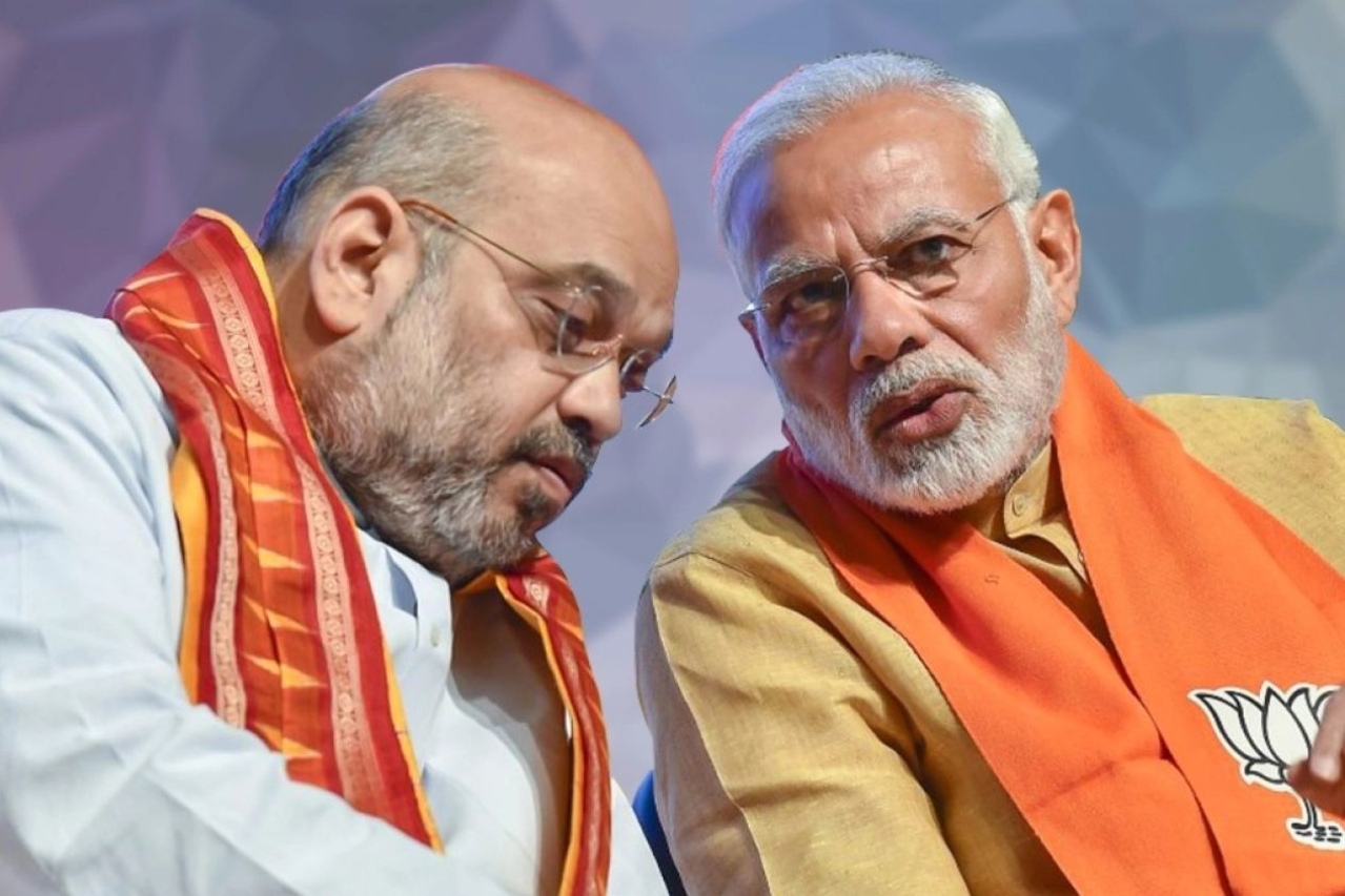 Prime Minister Narendra Modi with Home Minister Amit Shah.