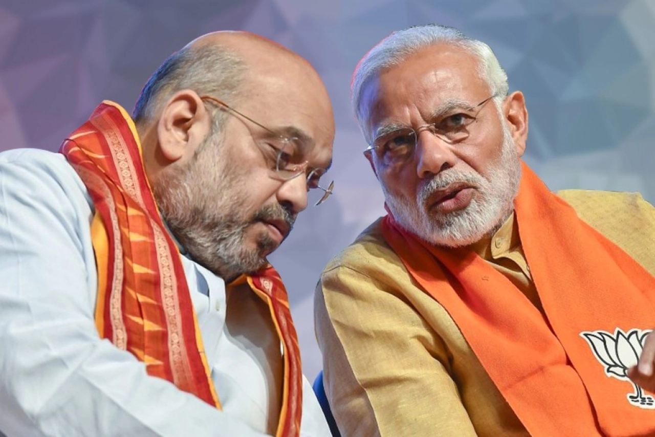 Prime Minister Narendra Modi with Home Minister Amit Shah