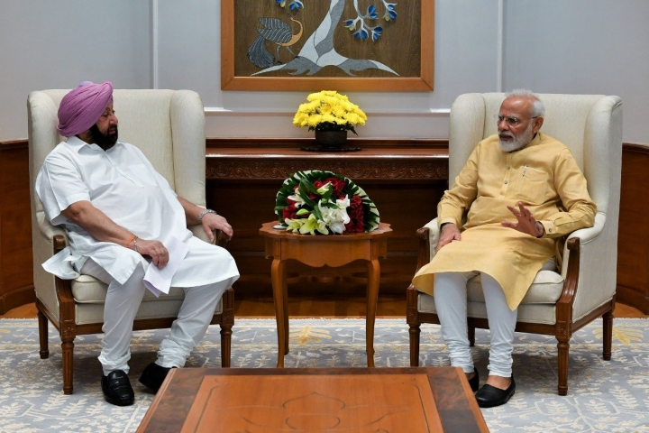 Punjab CM Amarinder Singh Meets PM Modi, Suggests Canalisation Of Three Indus System Rivers For Region's Economic Growth