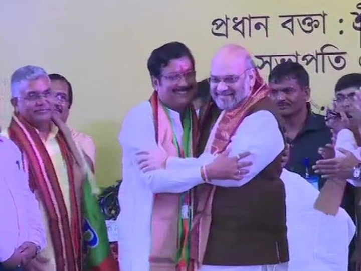 Kolkata: Trinamool MLA Sabyasachi Dutta Crosses Over To BJP In Presence Of Amit Shah
