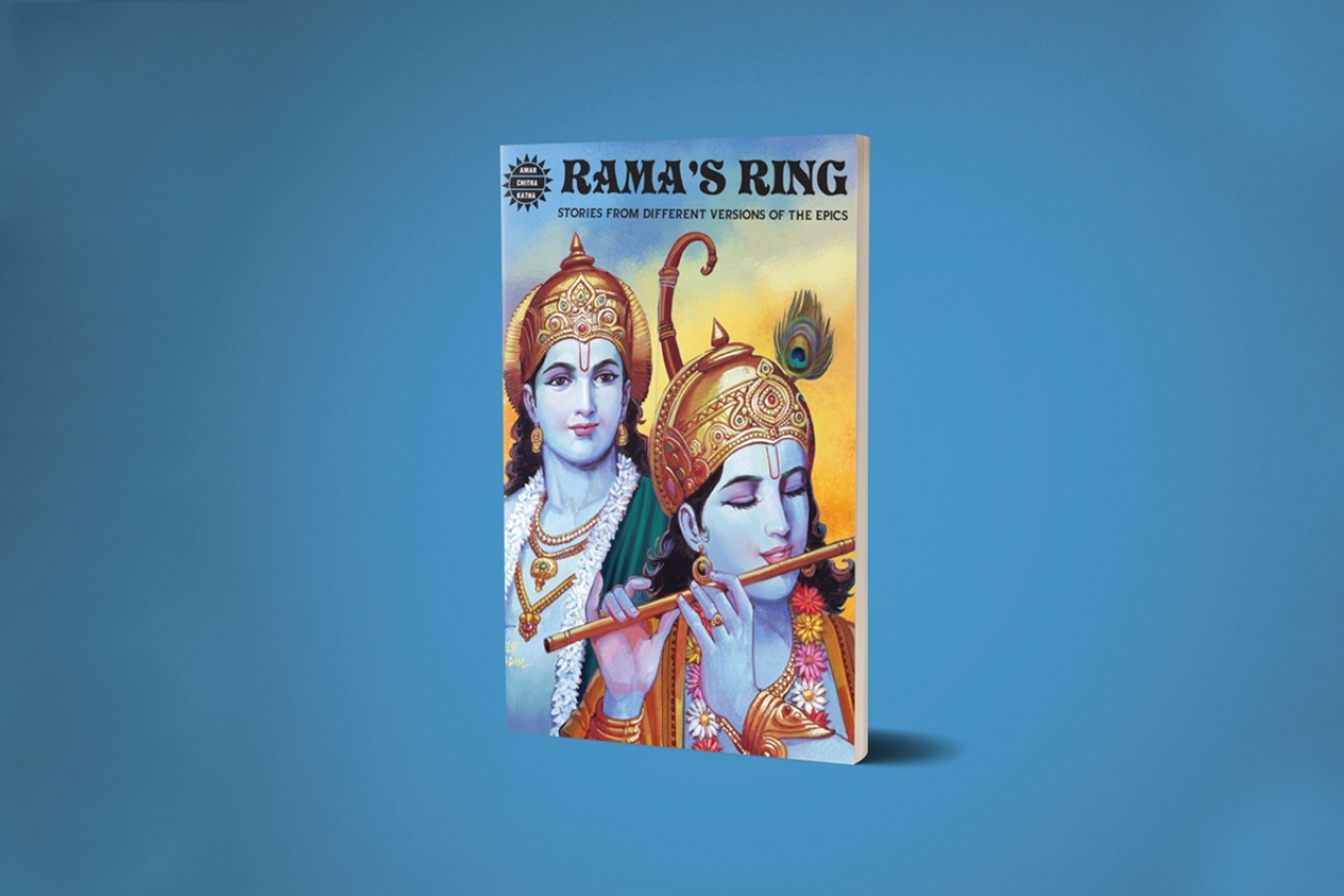 The cover of the Amar Chitra issue, Rama's Ring.
