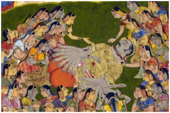 Ravana's Death And Mandodari's Lamentation
