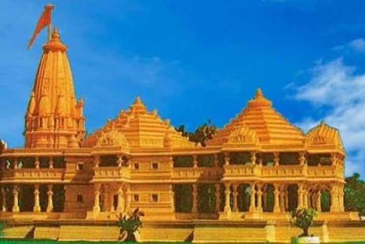 VHP Keeps Its Ram Temple Model For Display At Magh Mela In Prayagraj, Says Mandir Will Be On The Same Design