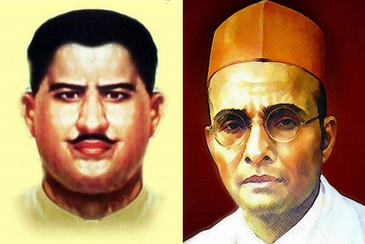 Ram Prasad Bismil - left, Veer Savarkar - right
