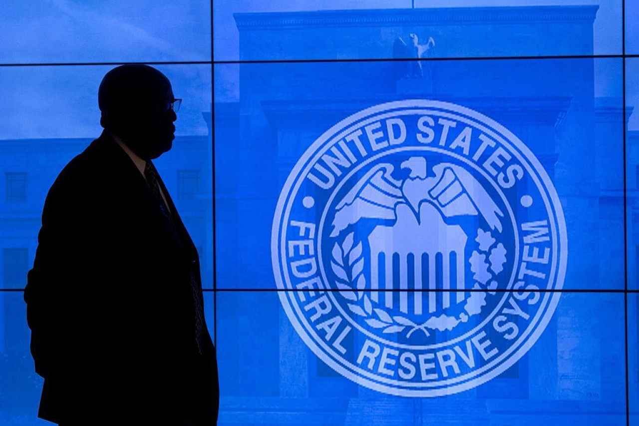 US Federal Reserve logo (SAUL LOEB/AFP/Getty Images)
