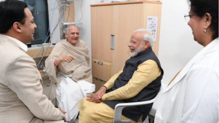 PM Modi Pays Surprise Visit To Former Union Minister Arun Shourie At  Hospital In Pune