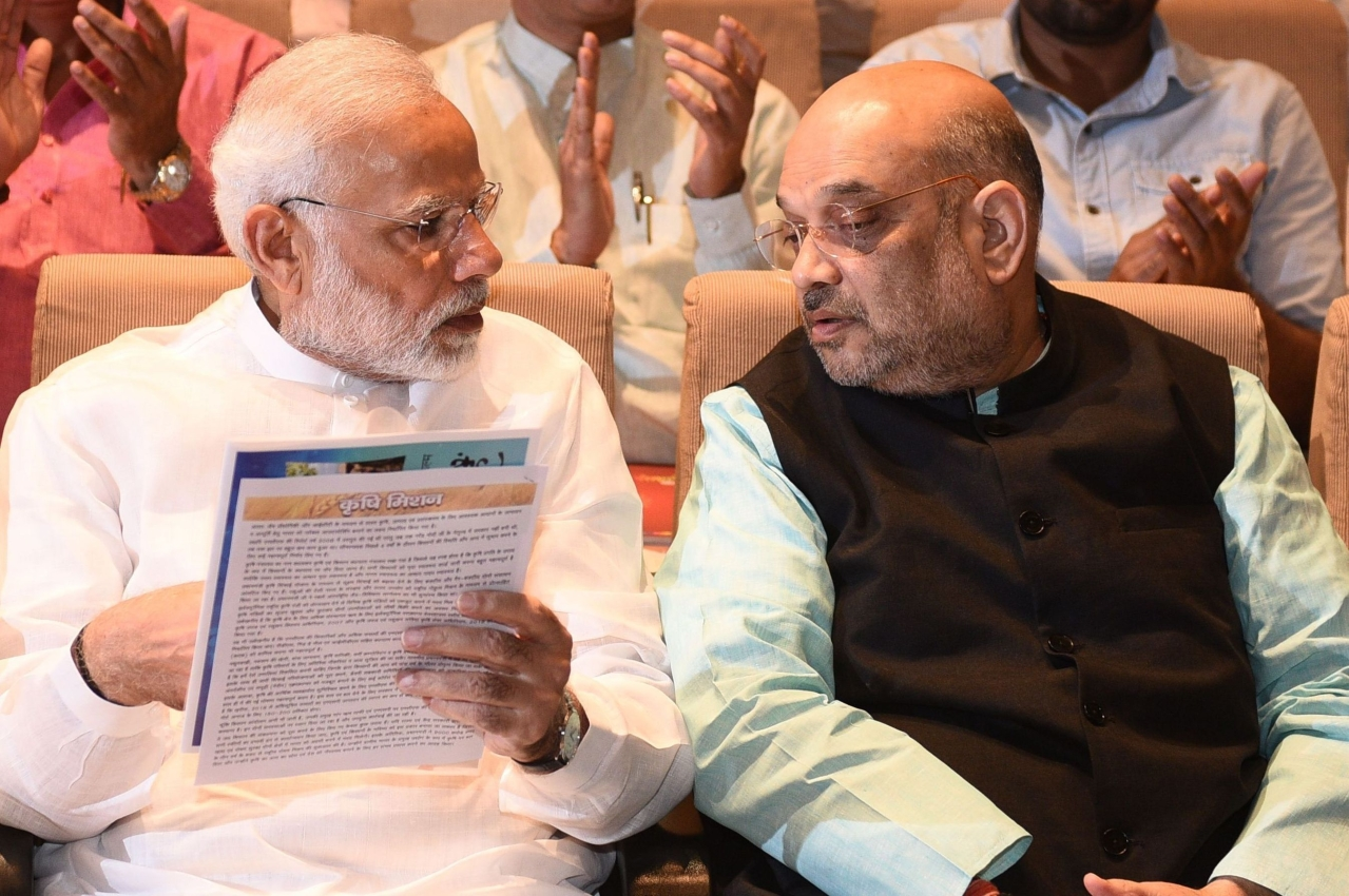 Prime Minister Narendra Modi with BJP President Amit Shah. (Vipin Kumar/ Hindustan Times via Getty Images)