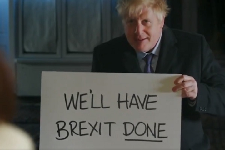 Watch: British PM Johnson Recreates Romantic Comedy Movie Scene To Urge People To Vote For Conservative Party