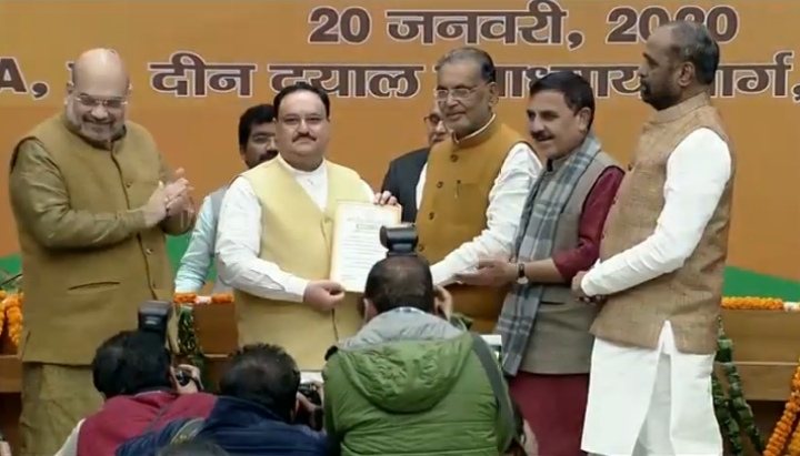 J P Nadda Becomes New BJP National President; Takes Over From Union Home Minister Amit Shah