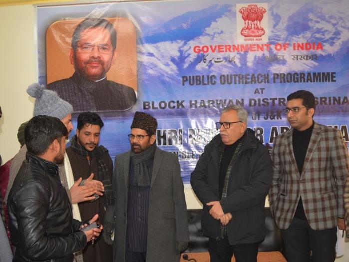 J&K: Mukhtar Abbas Naqvi Begins Centre's Outreach From Srinagar; Announces Rs 16 Crore Under Himayat Scheme