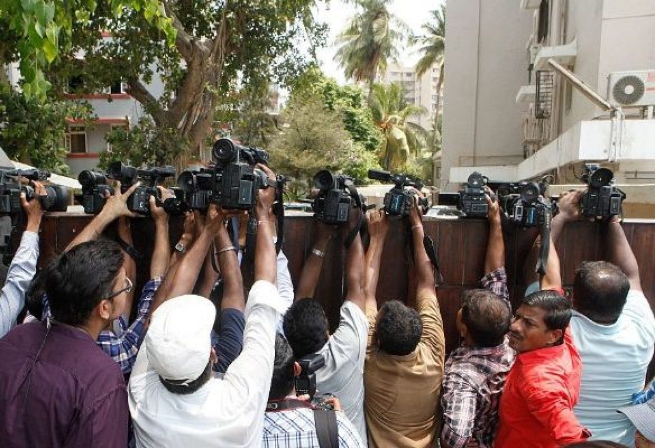 The day Big Media respects its footsoldiers, who are the real news collectors, their credibility will be restored. (Pratham Gokhale/Hindustan Times via Getty Images)