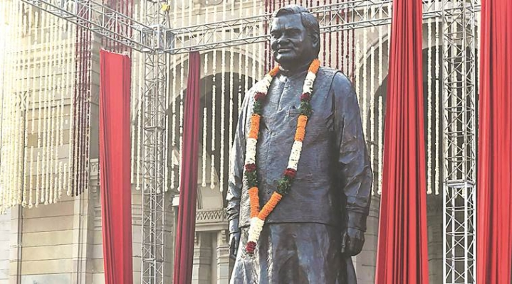 Unveiled By PM Modi On 25 December, Former PM Atal Bihari Vajpayee's Statue Turns Into A Viral Selfie Spot In Lucknow