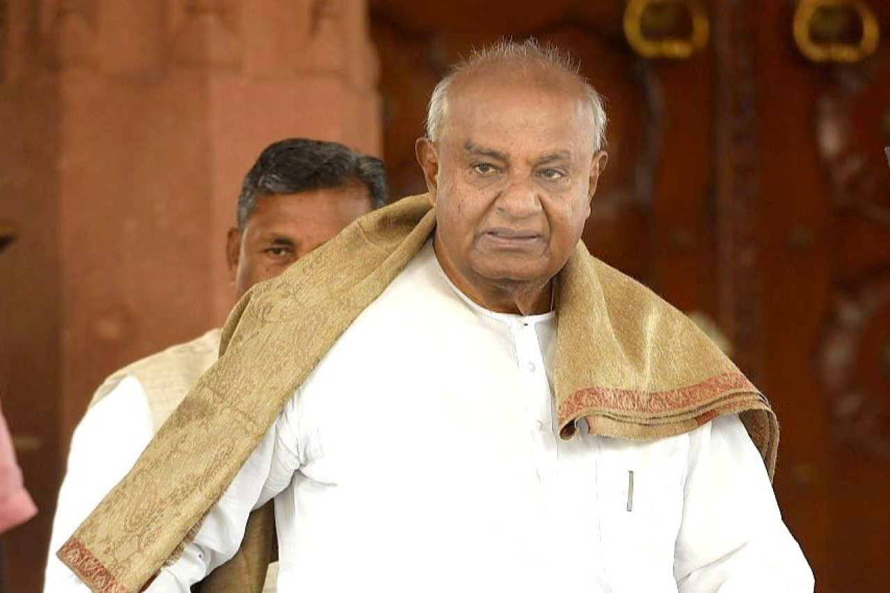 Former prime minister and JD(S) patriarch H D Deve Gowda.