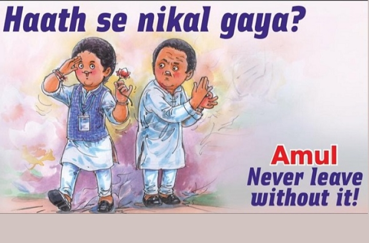 'Haath Se Nikal Gaya?': Netizens Impressed With Amul Ad On Jyotiraditya Scindia's Congress Exit