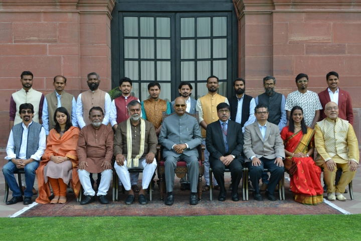 President Ram Nath Kovind Confers Lalit Kala Akademi Awards On 15 Artists From Across The Country