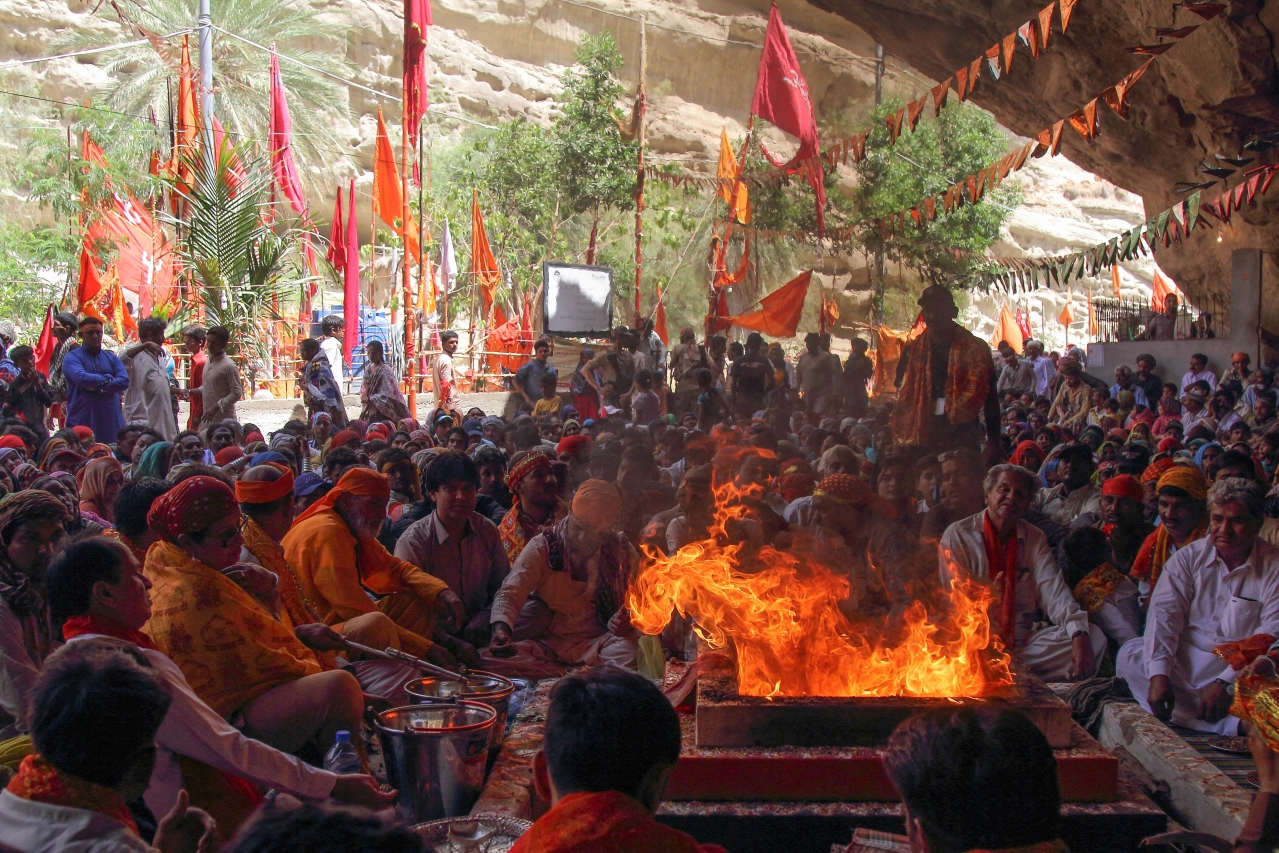 Havan at the Hinglaj temple in Pakistan(Wikimedia Commons)
