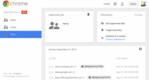 'Supervised Users' feature coming to Chrome Beta channel