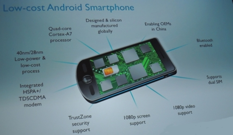 ARM wants a $100 price point for smartphones and tablets
