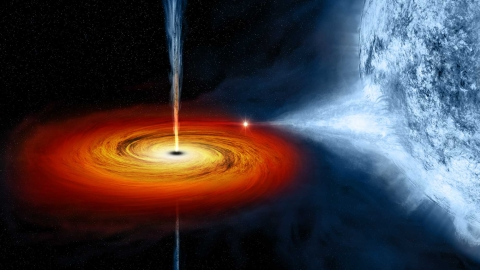 Giant Black Hole Found in an Unlikely Place by NASA's Telescope