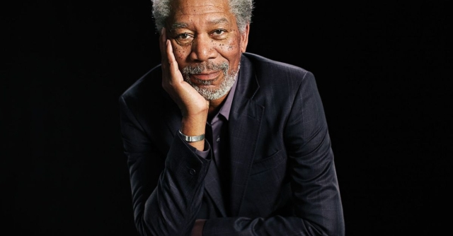 Morgan Freeman Looks to the Stars