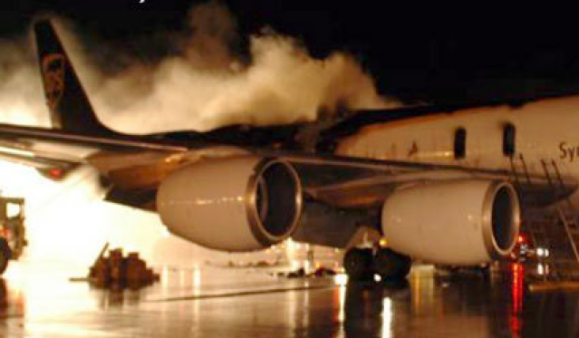 NTSB investigating laptop batteries as the cause of UPS cargo plane fire
