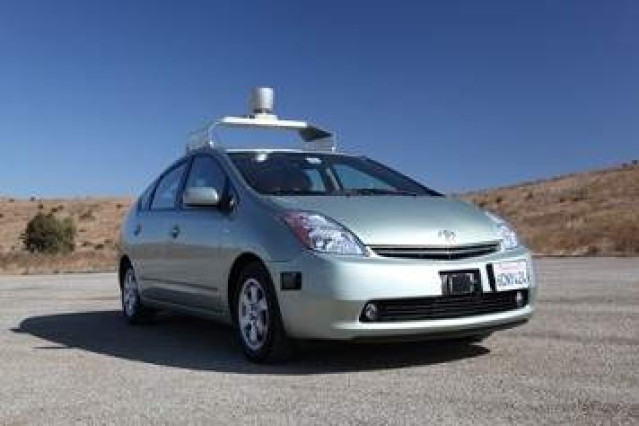 Google self-driving car crashes, human to blame