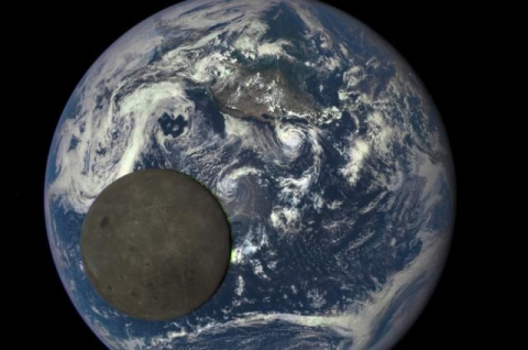 See The Moon Photobombing The Earth, Again