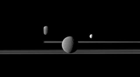 "Saturn's moons and rings are ""vintage goods"""