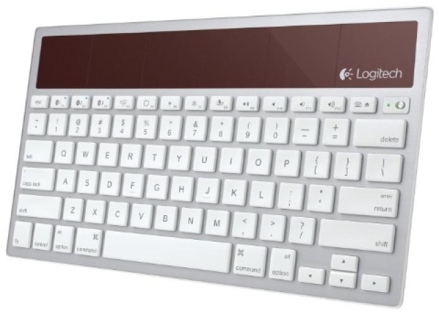 Logitech touts wireless solar keyboard for Apple gear