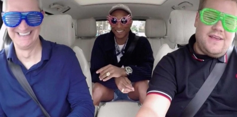 Corden Got Tim Cook in His Car Before the Apple Event