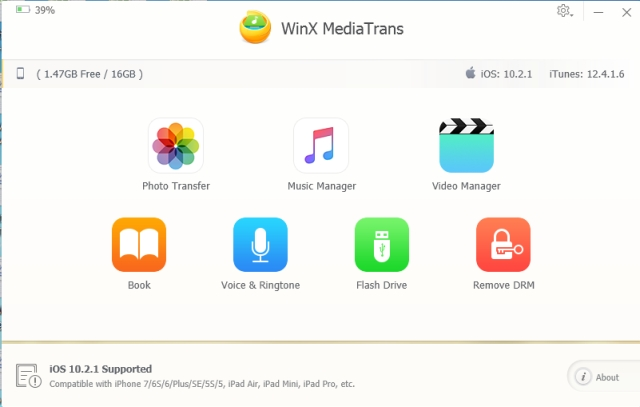 WinX MediaTrans: How to Backup Files in iPhone/iPad without iTunes