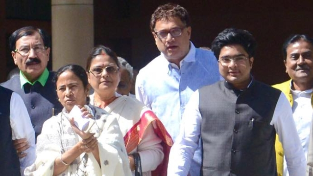 West Bengal Chief Minister Mamata Banerjee (Left) and Trinamool Congress candidate from Daimond Harbour constituency, Abhisek Banerjee (Right) after meeting PM Narendra Modi in Delhi on 9 March 2015.  (Photo Courtesy: Facebook.com/AbhishekBanerjeeOfficial)