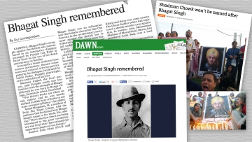 Pakistani daily <i>Dawn</i> reports on how Bhagat Singh was remembered on the eve of his 84th death anniversary. This despite attempts to erase him from the country's collective memory.