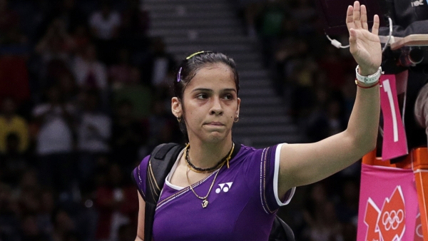 Indian shuttler Saina Nehwal knocked out of the Singapore Open after losing to Nozomi Okuhara in the quarter-final.