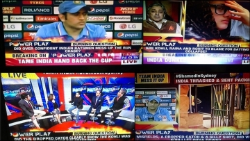 Screenshots of Times Now's post semi-finals coverage. (Courtesy: Twitter)