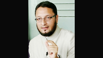 "Asaduddin Owaisi, President of All India Majlis-E-Ittehadul Muslimeen (AIMIM) Party. (Photo Courtesy: <a href=""http://www.aimim.in/asaduddin-owaisi/"">aimim.in</a>)"